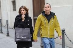 Elisabetta Canalis a Roma con il fidanzato
